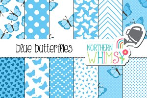 Blue Butterfly Patterns