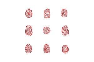 Set of isolated fingertips