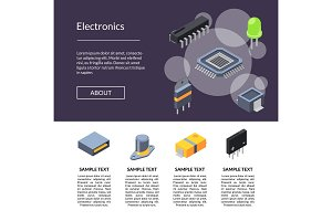 Microchips and electronic parts