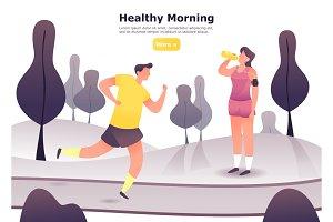 Man jogging or at scamper