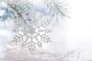 Christmas background, snowflakes