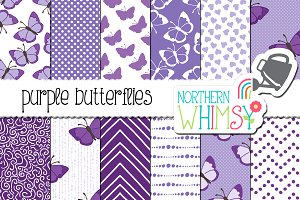 Purple Butterfly Patterns