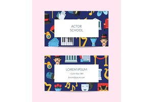Vector flat theatre icons business