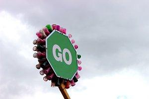 """Fun Fair Sign """"Go"""""""