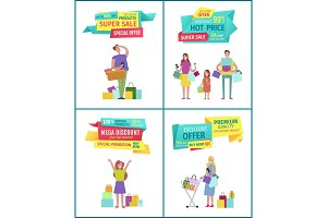 Special offer vector banner with