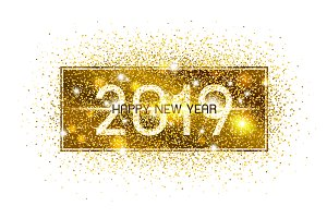 Happy new year 2019 design