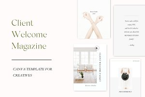 NEW! Client Welcome Magazine
