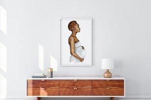 Pregnant illustration Motherhood Art