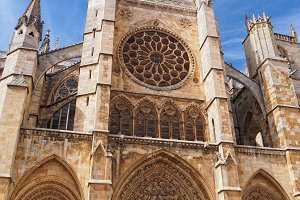 Gothic cathedral of Leon, Spain.