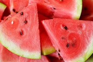 Watermelon slices close-up