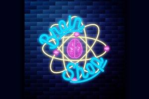 Vintage scientific shops emblem glow