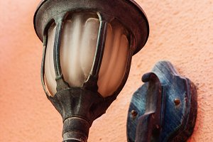 vintage lantern in Arabic style on t