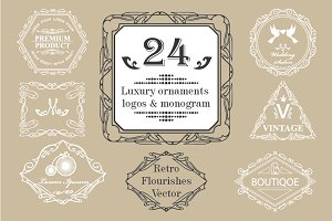24 Vintage luxury logos & monograms