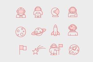 12 Astronaut Icons