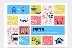 Pets infographic template