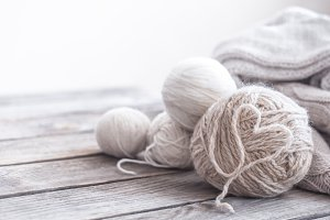 home hobbies, knitting threads