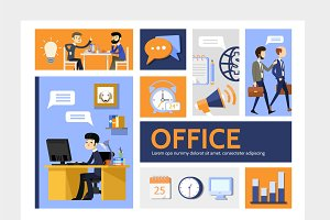 Flat business infographic template