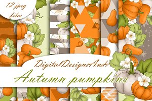Pumpkin digital paper