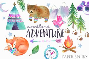 Woodland Adventure Watercolor Pack