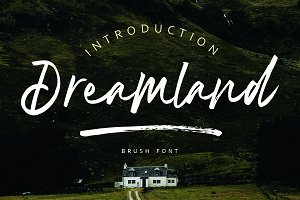 Dreamland | Brush Font