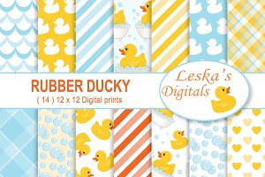 Rubber Duck Digital Scrapbook Paper
