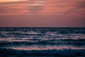 Romantic Purple and Orange Sunset