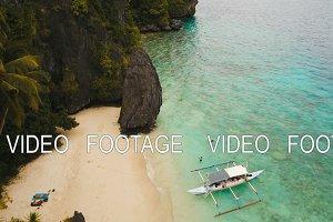 Tropical beach, aerial view