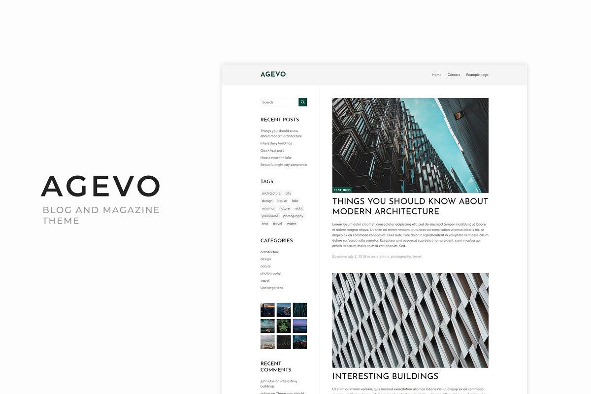 Agevo - Magazine Wordpress Theme
