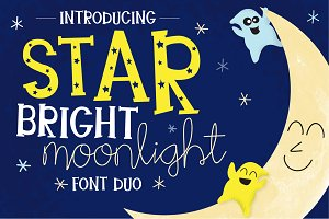 Star Bright Moon Light Font Duo