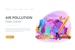 Power station and air pollution