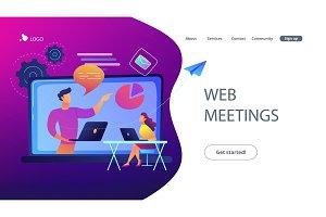 Web meetings landing page.