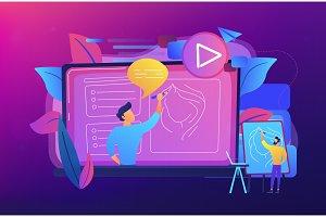 How-to videos concept vector