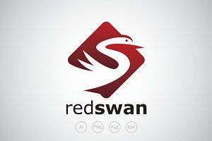 Red Swan Logo Template