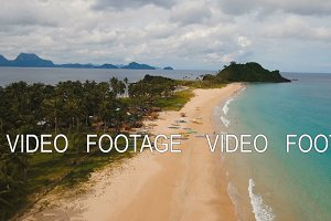 Aerial view beautiful beach on a