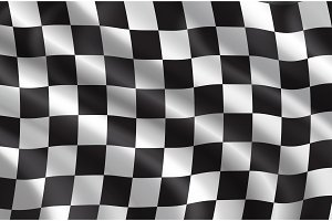Vector rally or car races flag