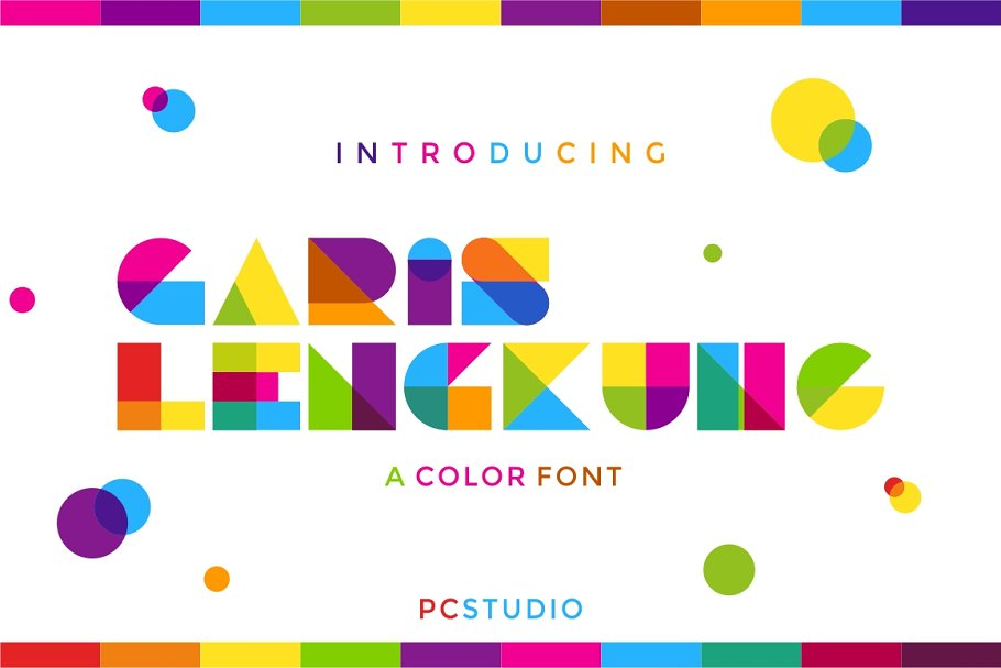 Garis Lengkung - Colorful Font in Colorful Fonts - product preview 8