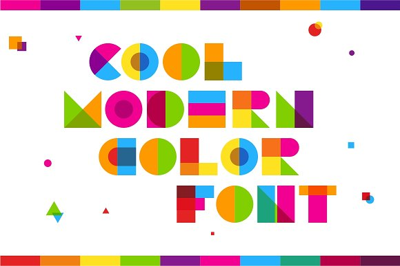 Garis Lengkung - Colorful Font in Colorful Fonts - product preview 3