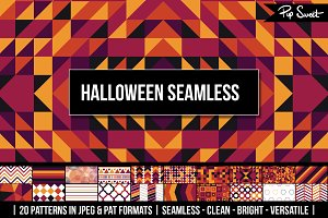 Halloween Seamless 20 Pattern Set