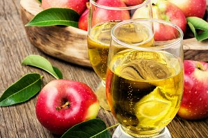 Homemade cider from ripe apples