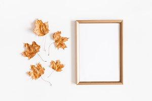Autumn leaves, photo frame