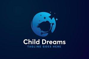 modern child dreams logo template