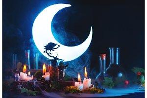 Magical predatory plant silhouette