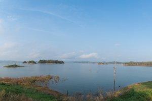 Panoramic view of the dam