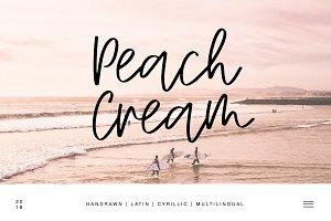 Peach Cream Latin & Cyrillic