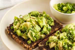 Avocado toast with whole wheat bread