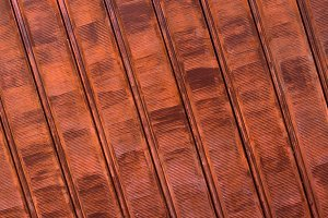 Rusty shutters of a garage