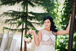 Temptation model brunette bride at e