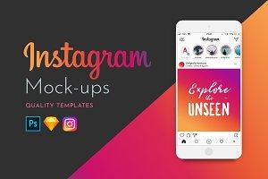 Instagram Mock-ups - Autumn 2018