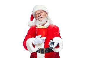 Christmas. Smiling, good Santa Claus