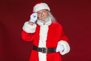 Christmas. Serious Santa Claus in